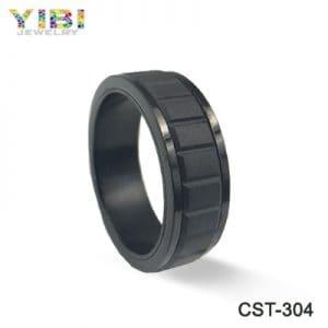 Men's black ceramic jewelry