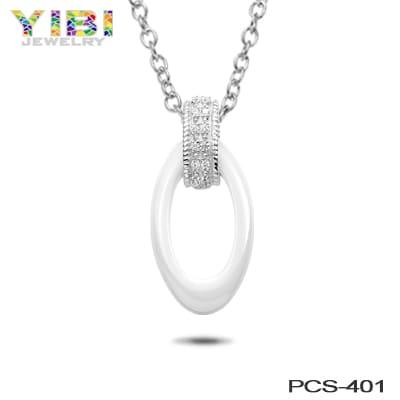 white ceramic jewelry