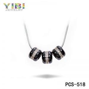 Ceramic bead necklace, jewelry wholesale