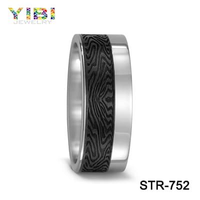 Matte black wedding ring supplies