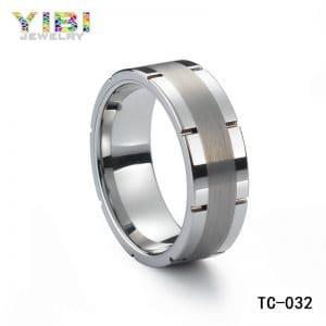 Tungsten carbide men's wedding bands