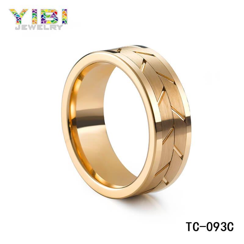 Custom unique tungsten wedding bands, tungsten ring manufacturers