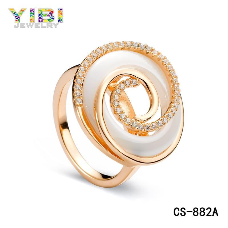 Ceramic CZ Engagement Rings