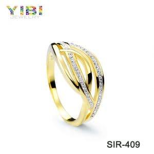 Elegant women brass engagement rings