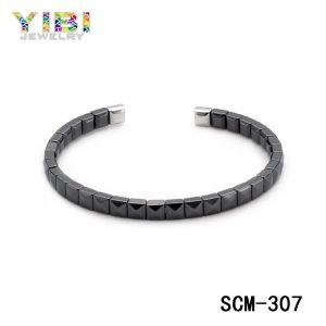 Classic plating black stainless steel bracelet