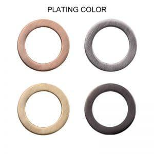 Stainless steel ladies rings plating color