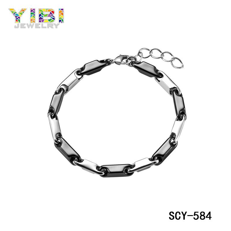 ceramic silver jewelry bracelet