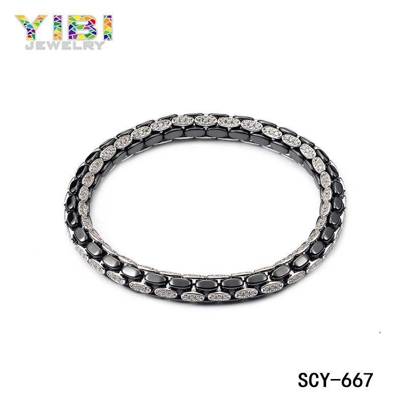 High-tech ceramic silver jewelry