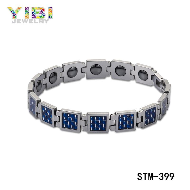 Men's carbon fiber bracelet