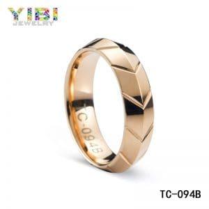 Rose gold tungsten wedding band