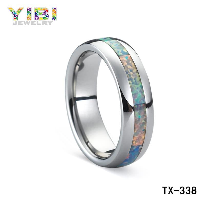 Australian fire opal ring