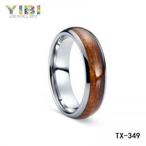koa wood inlay rings