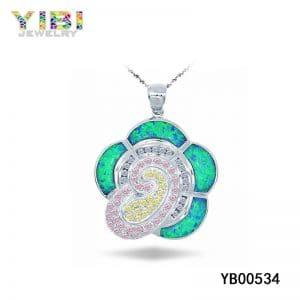 Colored brass cz jewelry with australian opal inlay