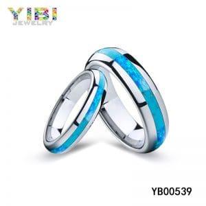 australian blue opal rings OEM supplier