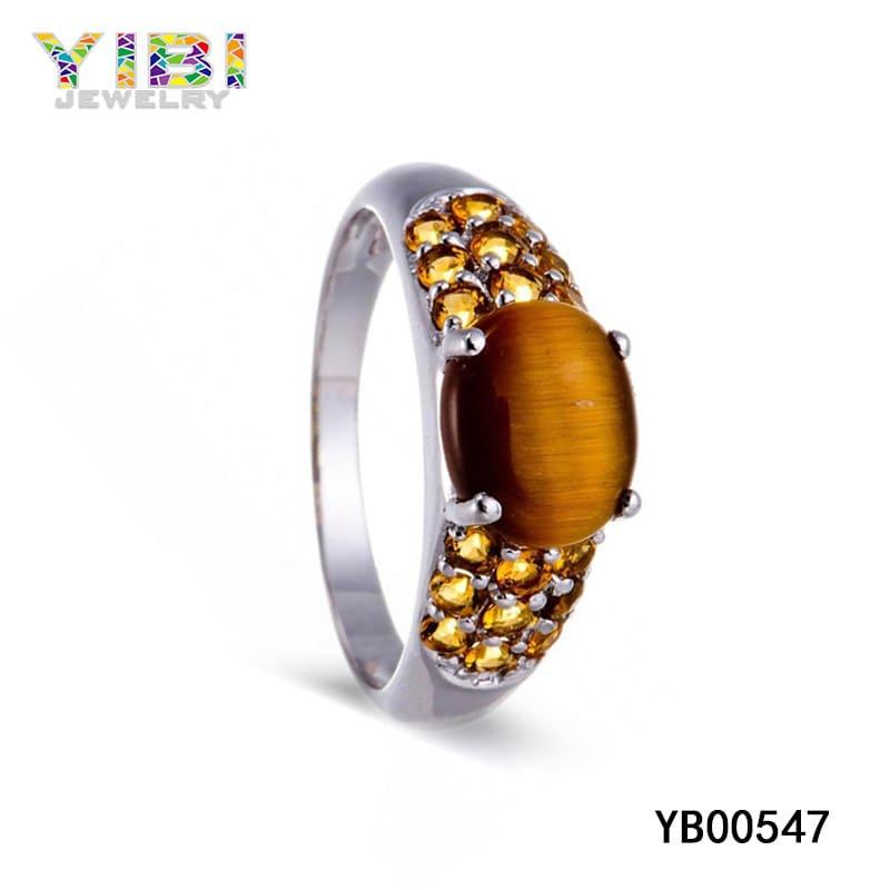 Brass tigers eye ring