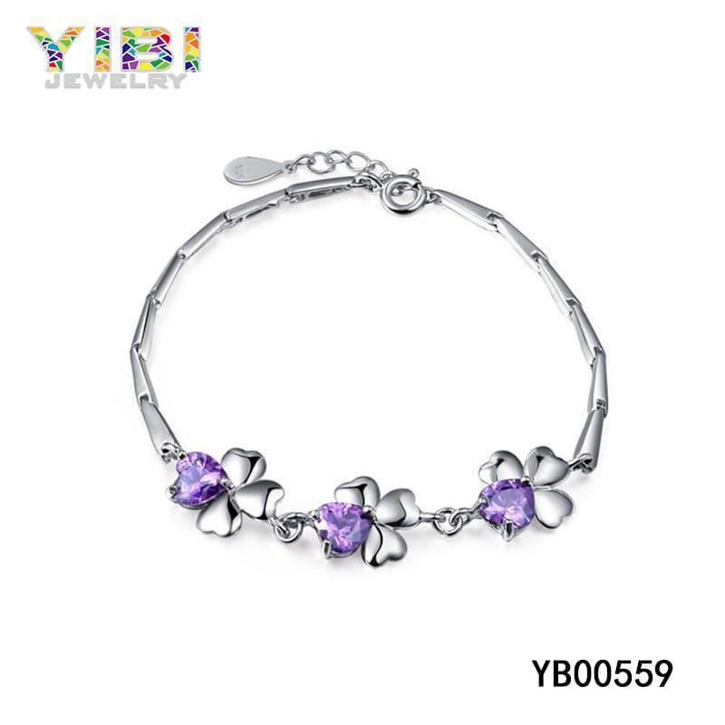 synthetic amethyst stone bracelet