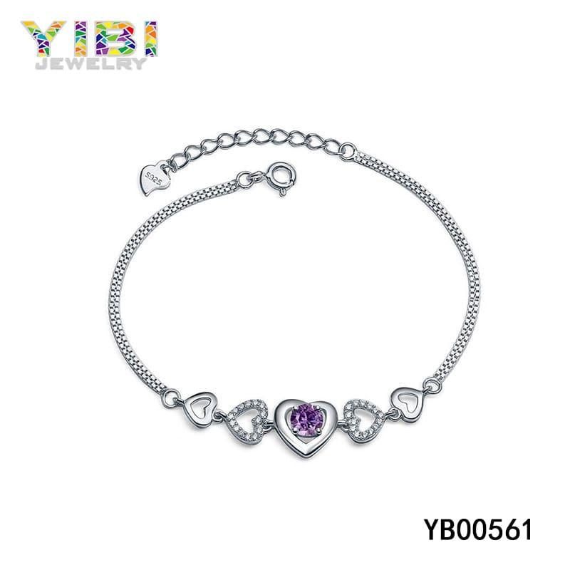Brass amethyst bracelet jewelry