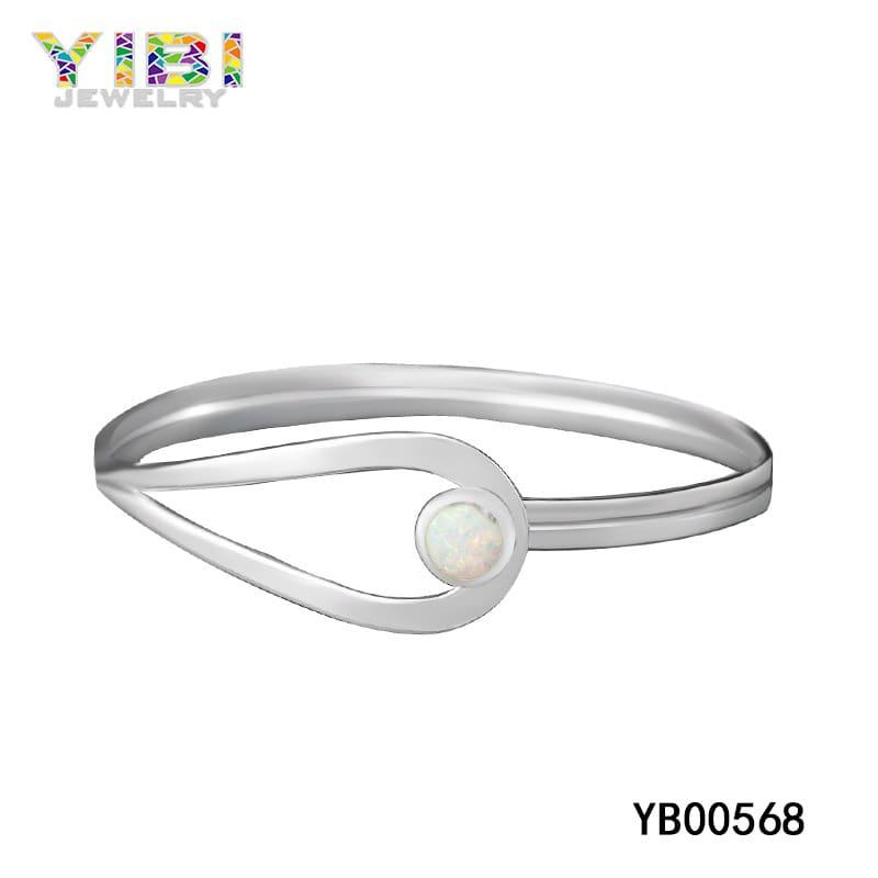 White fire opal bracelet