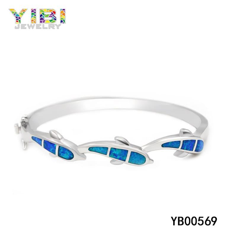 Australian blue opal bracelet