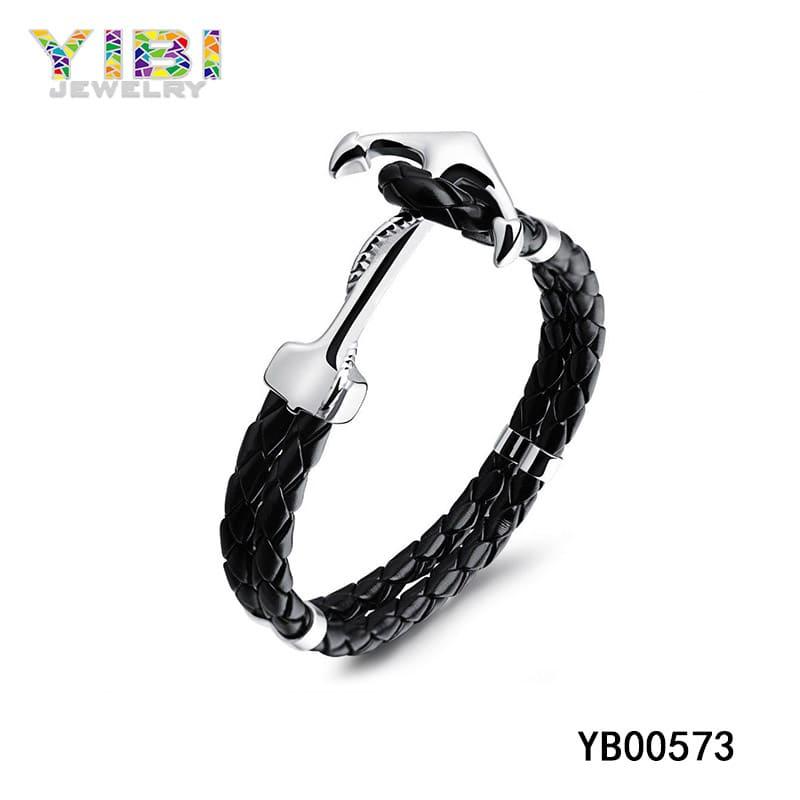 Leather anchor bracelet manufacturer