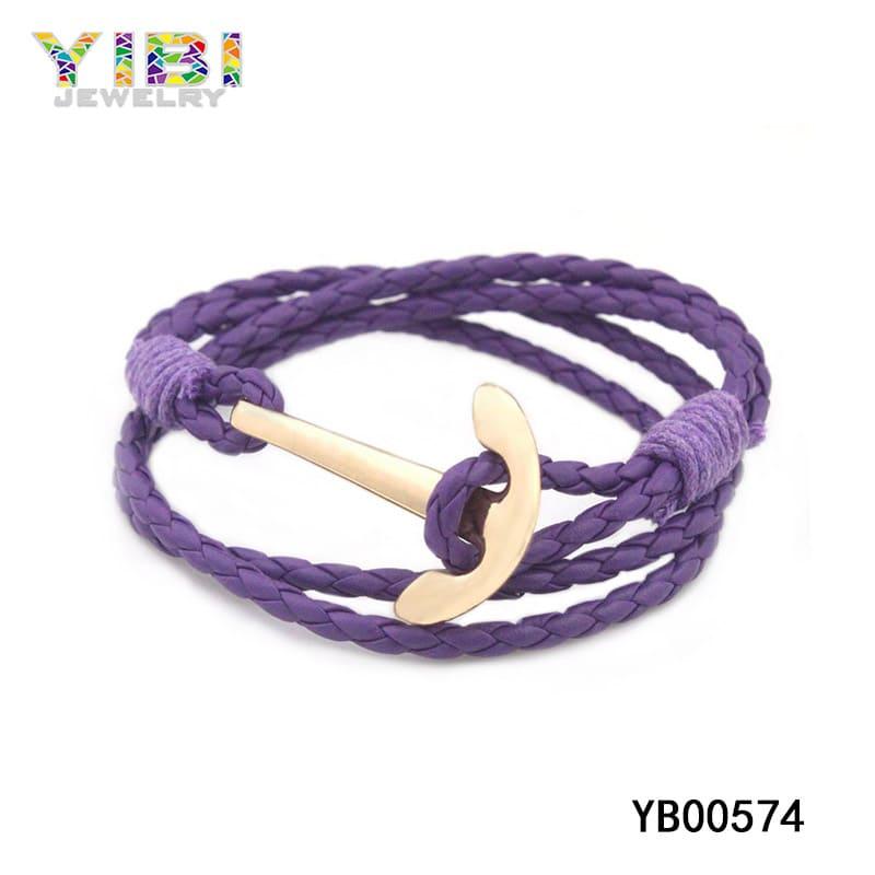 Women's braided leather bracelet