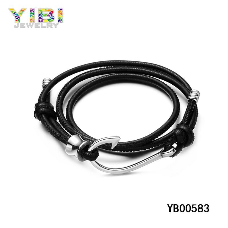 Men's leather rope bracelets