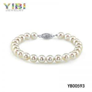 Freshwater pearl bracelet, real pearl bracelet