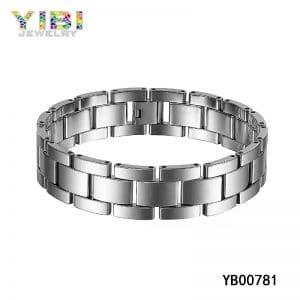 Classic men's tungsten bracelet, classic tungsten jewelry