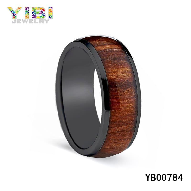 titanium and wood wedding bands
