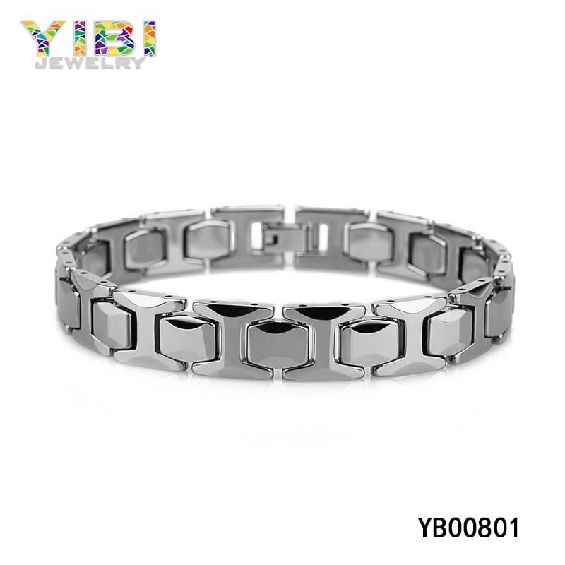 Contemporary tungsten bracelet