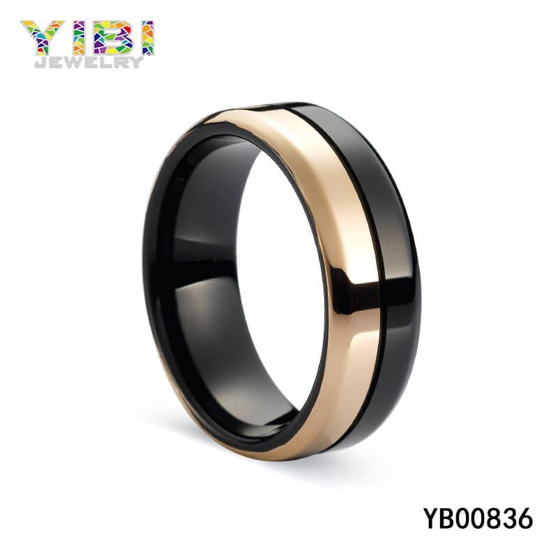 Tungsten carbide men wedding bands