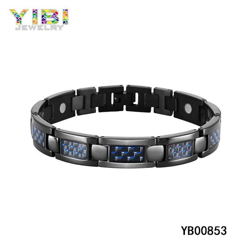 Titanium carbon fiber bracelet