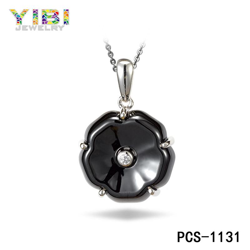 classic black high-tech ceramic pendant