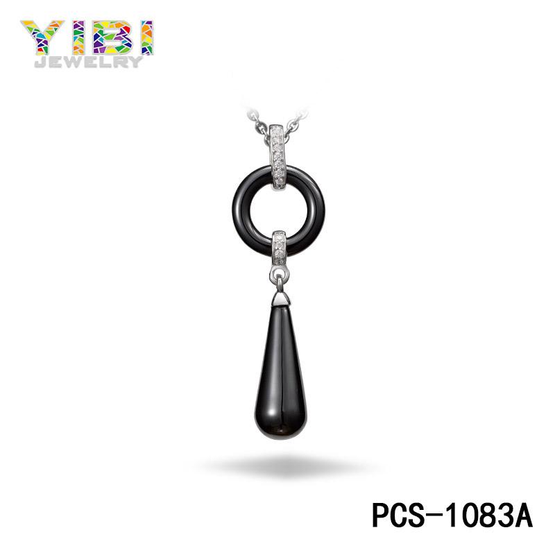 black ceramic necklace
