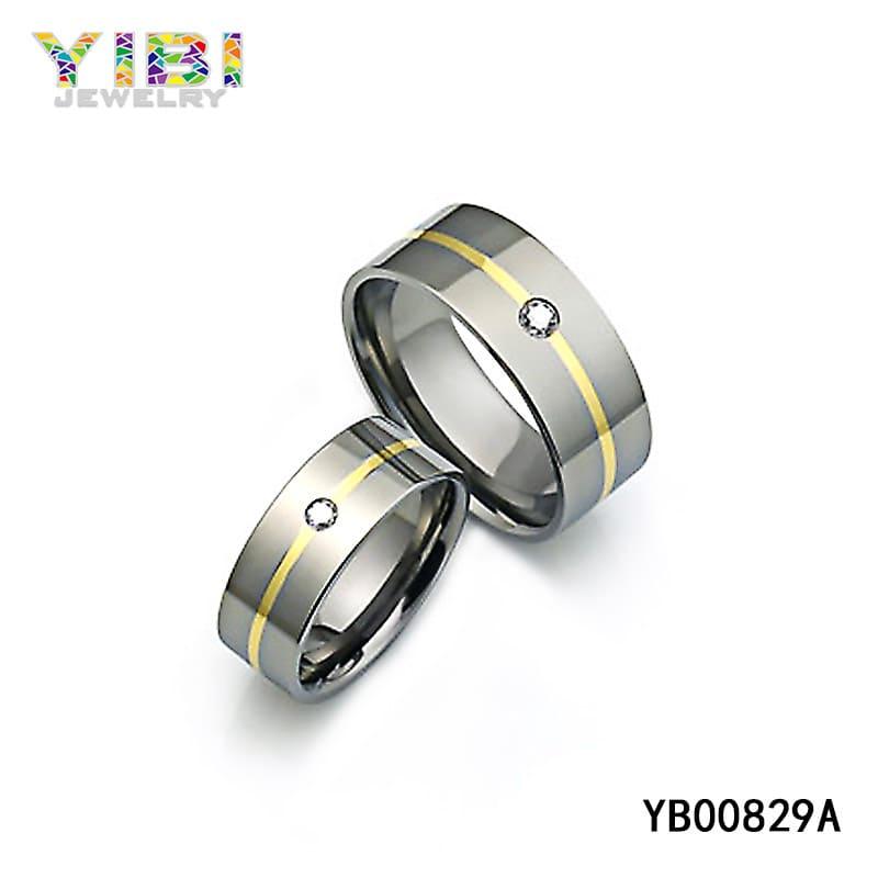 titanium cubic zirconia jewellery