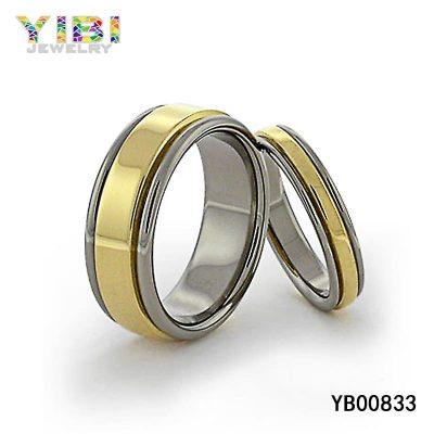 gold titanium rings jewelry