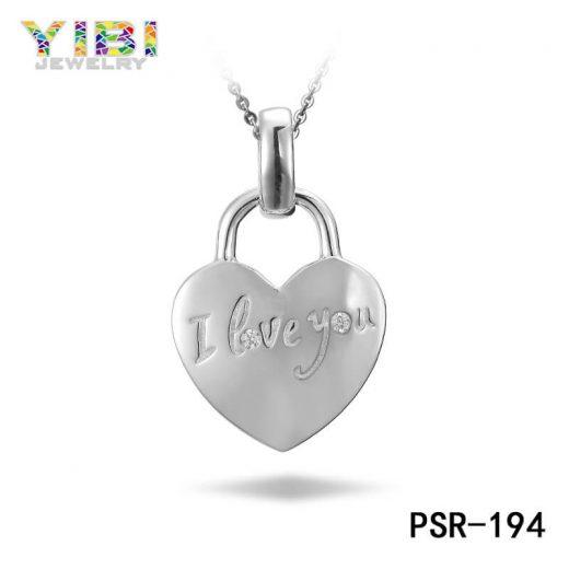 Heart Shaped Brass Love Pendant