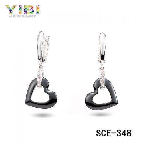 Black Ceramic Earrings Ceramic jewelry