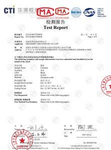 CTI certificate black ceramic