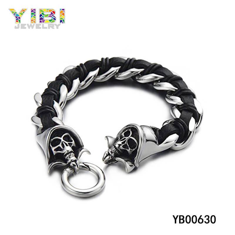 stainless steel men skull jewelry