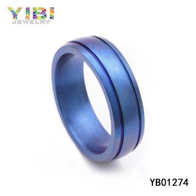 mens blue titanium jewelry