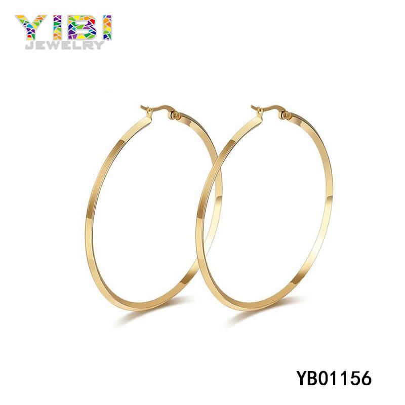surgical stainless steel hoop earrings