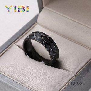 Brushed Tungsten Carbide Ring