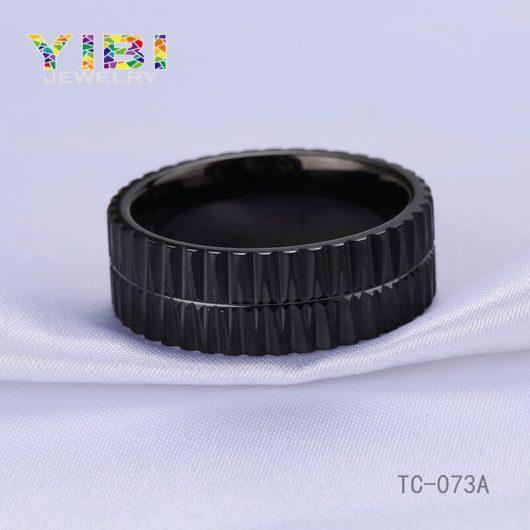 Black Tungsten Carbide Wedding Ring Big Picture Show