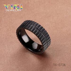 Black Tungsten Carbide Wedding Ring