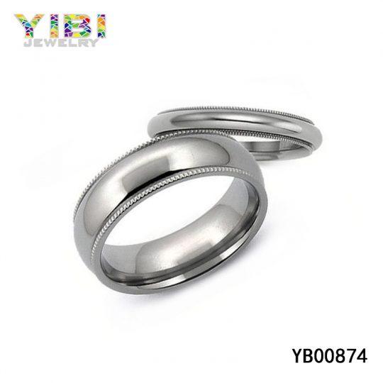High-Polished Domed Titanium Ring Manufacturer