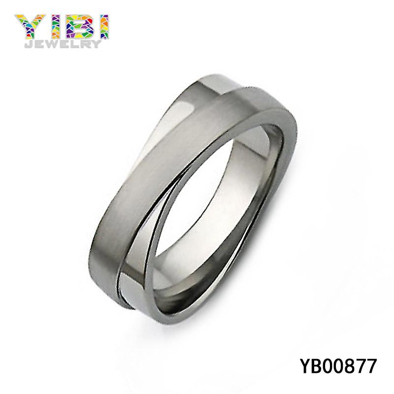 Classy Titanium Infinity Ring