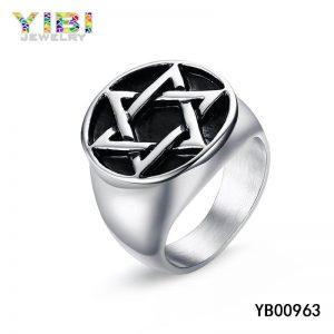 Rvs Jodenster ringen