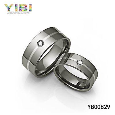 Titanium CZ Rings
