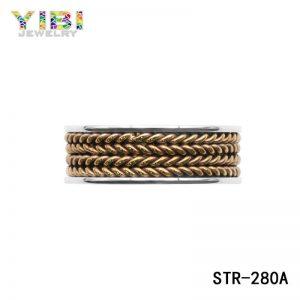 316L Roestvrijstalen Ring Met Verguld